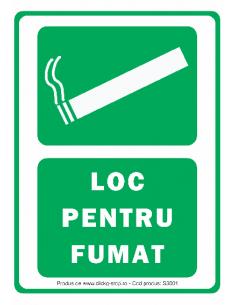 Loc pentru fumat -...