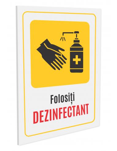 Indicator de avertizare dezinfectarea...