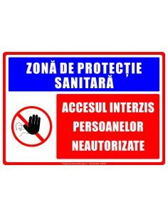Zonă de protecție sanitară...