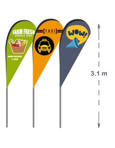 Catarg Steag LACRIMĂ - 3.1m