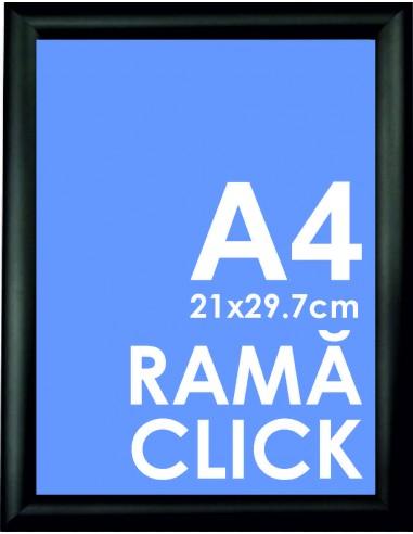 Ramă Click A4 Poster negru, 21 x 29.7 cm