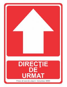 Direcție de urmat (sus) -...