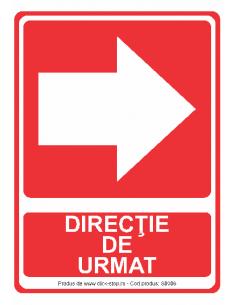 Direcție de urmat (dreapta)...